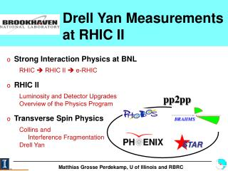 Drell Yan Measurements  at RHIC II