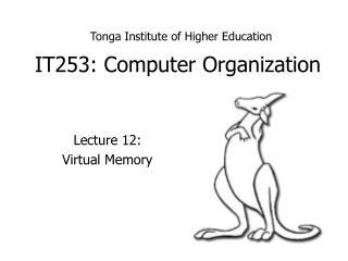 IT253: Computer Organization