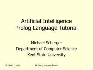 Artificial Intelligence Prolog Language Tutorial