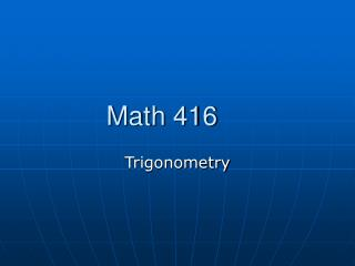 Math 416