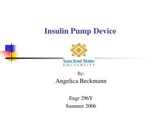 Insulin Pump Device