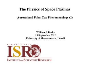 The Physics of Space Plasmas