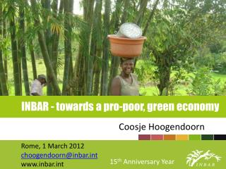 INBAR - towards a pro-poor, green economy