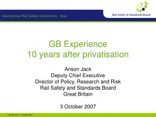 GB Experience 10 years after privatisation