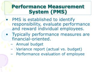 Performance Measurement System (PMS)