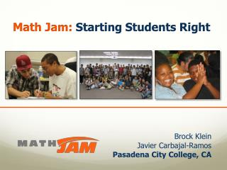 Math Jam: Starting Students Right