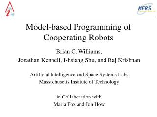 Model-based Programming of Cooperating Robots