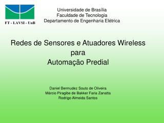 Universidade de Brasília Faculdade de Tecnologia Departamento de Engenharia Elétrica