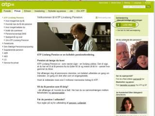 Privat Beregn din pension Der markeres med       hvor kunden klikker