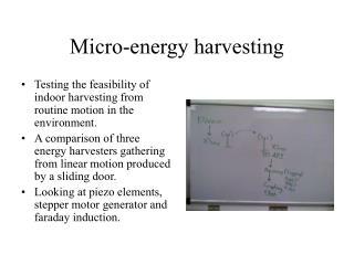 Micro-energy harvesting
