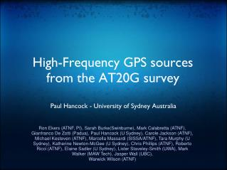 High-Frequency GPS sources from the AT20G survey