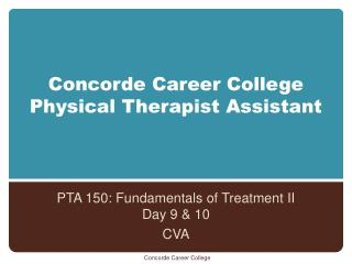 Concorde Career College Physical Therapist Assistant