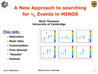 A New Approach to searching  for  n e  Events in MINOS