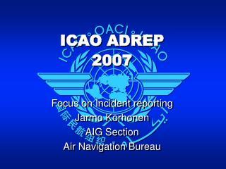 ICAO ADREP 2007