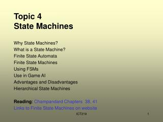 Topic 4  State Machines