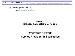 ATMC  Telecommunication Services