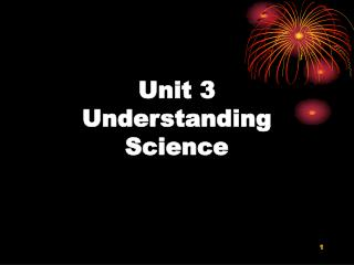 Unit 3 Understanding Science
