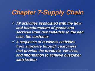 Chapter 7-Supply Chain