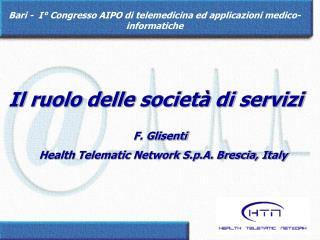 Bari -  I° Congresso AIPO di telemedicina ed applicazioni medico-informatiche