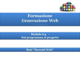 Formazione  Generazione  Web a.s.  2013-20