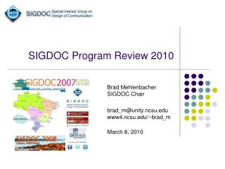 SIGDOC Program Review 2010