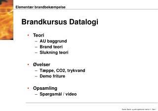 Brandkursus Datalogi