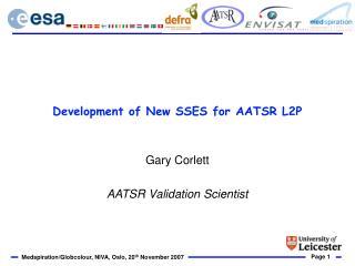 Development of New SSES for AATSR L2P