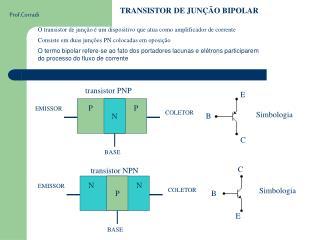 TRANSISTOR DE JUN��O BIPOLAR