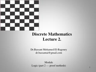 Discrete Mathematics  Lecture 2.