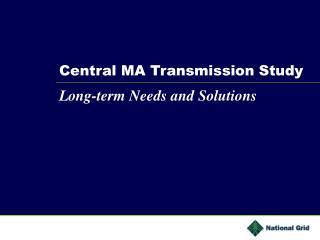 Central MA Transmission Study