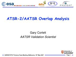 ATSR-2/AATSR Overlap Analysis