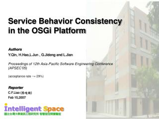 Service Behavior Consistency  in the OSGi Platform
