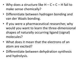 Why does a structure like H – C = C – H fail to make sense chemically?