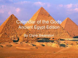 Calendar of the Gods Ancient Egypt Edition