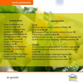 primeros platos Mouse de parmesano con crema de tomate  5,5€