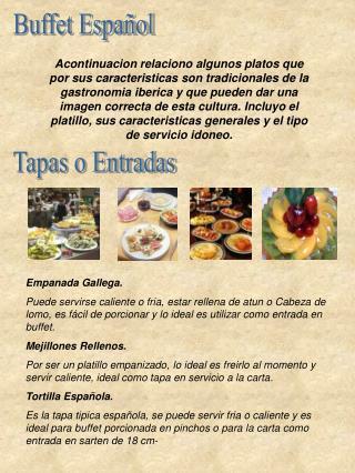 Buffet Español