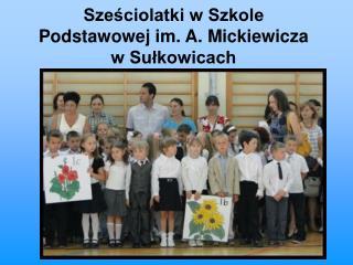 Sze?ciolatki w Szkole Podstawowej im. A. Mickiewicza  w Su?kowicach