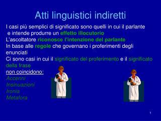 Atti linguistici indiretti