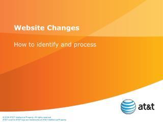 Website Changes