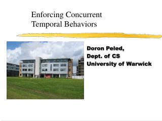 Enforcing Concurrent  Temporal Behaviors