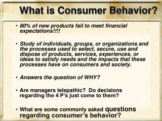 What is Consumer Behavior