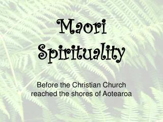 Maori Spirituality