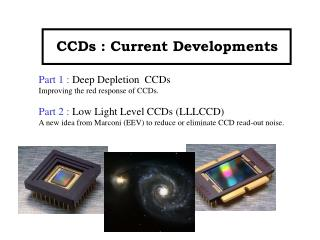 CCDs : Current Developments
