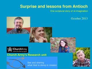 Surprise and lessons from Antioch