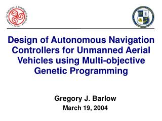 Gregory J. Barlow March 19, 2004