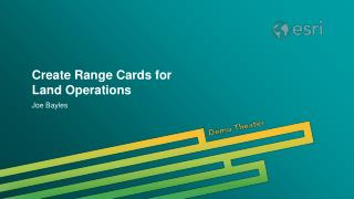 Create Range Cards for Land Operations