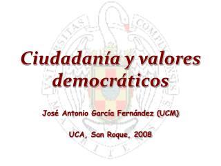 Ciudadanía y valores democráticos