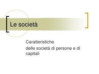 Le societ�
