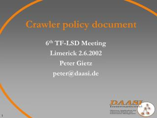 Crawler policy document