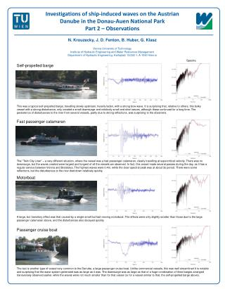 Investigations of ship-induced waves on the Austrian Danube in the Donau-Auen National Park